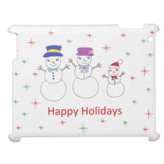 Snowman Family Happy Holidays Case For The iPad