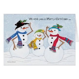 Snowman family Happy New year Card