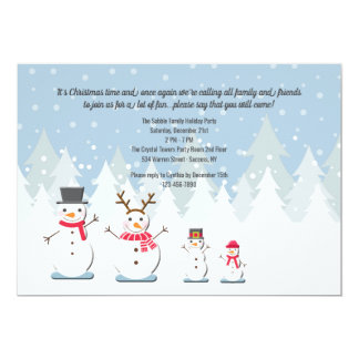 Snowman Family Invitation