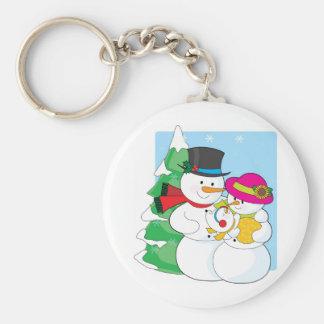 Snowman Family Key Chain