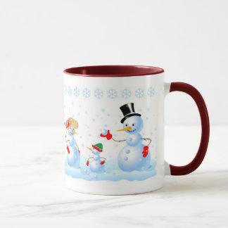 Snowman Family Mug