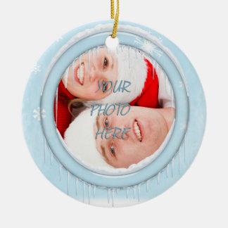 Snowman Family Picture Ornament