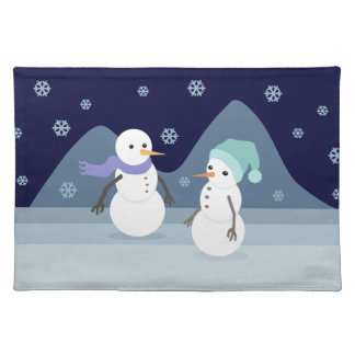 Snowman Friends Placemat
