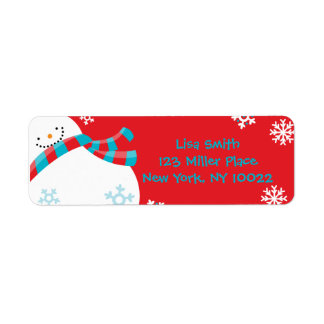 Snowman Fun - Christmas Return Address Labels