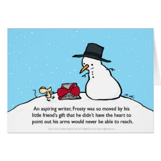 Snowman Gift card for writers