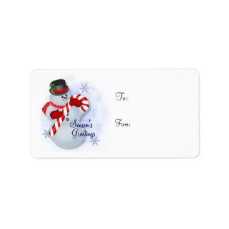 Snowman Gift Tag - Label