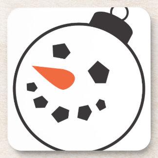 Snowman Globe Beverage Coasters
