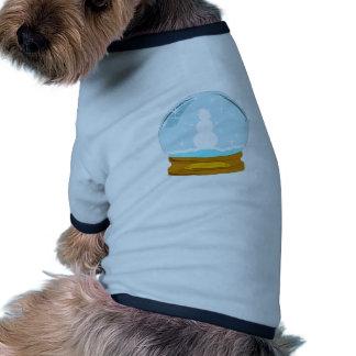 Snowman Globe Ringer Dog Shirt