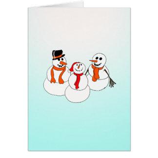 snowman greetingcard card
