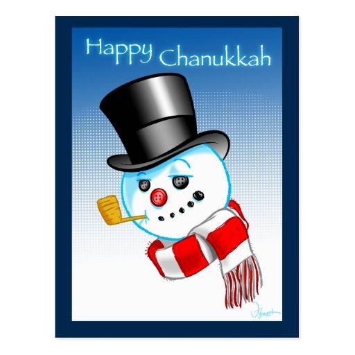 Snowman Happy Chanukkah Postcards