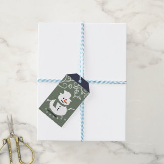 Snowman Happy Holiday Gift Tags