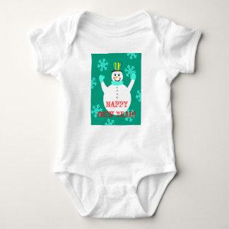 Snowman Happy New Year Baby Jersey Bodysuit