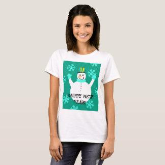 Snowman Happy New Year Women's  T-Shirt