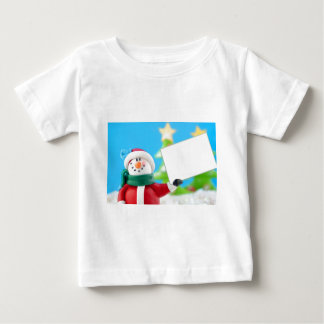 Snowman holding a blank sign baby T-Shirt