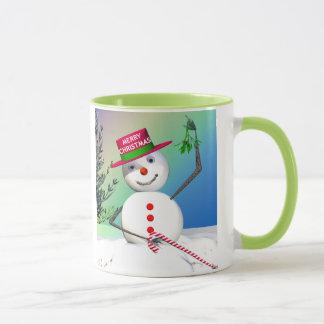 Snowman Holding Mistletoe