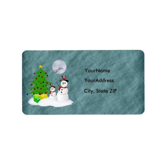 Snowman Holiday Address Label