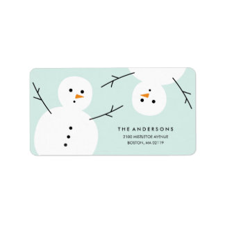Snowman | Holiday Address Labels