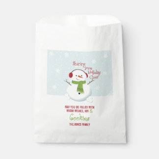 Snowman Holiday Cheer Favour Bag