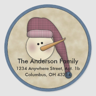 Snowman Holiday D2 Return Address Labels