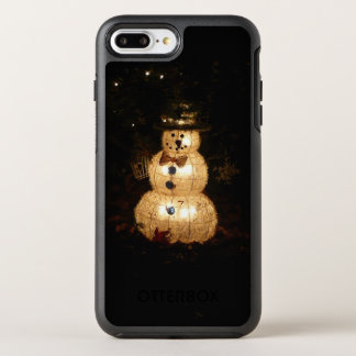 Snowman Holiday Light Display OtterBox Symmetry iPhone 8 Plus/7 Plus Case