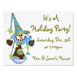 Snowman Holiday Party 11 Cm X 14 Cm Invitation Card