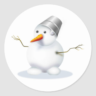 Snowman Holiday  Winter Sticker