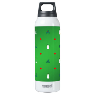 Snowman Holly Polka Dot - On Green 0.5 Litre Insulated SIGG Thermos Water Bottle