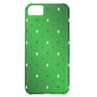 Snowman Holly Polka Dot - On Green Case For iPhone 5C