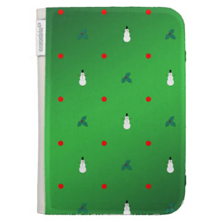 Snowman Holly Polka Dot - On Green Kindle Covers