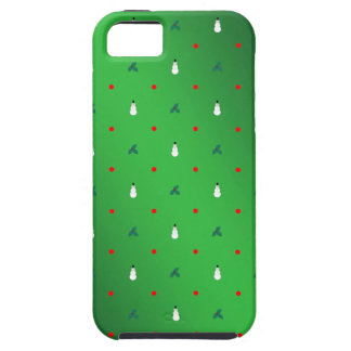 Snowman Holly Polka Dot - On Green iPhone 5 Covers