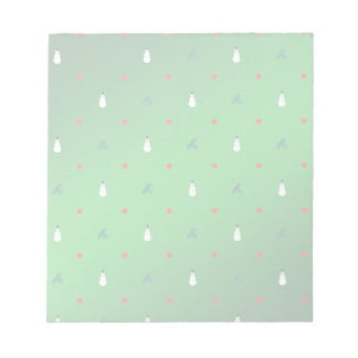 Snowman Holly Polka Dot - On Green Notepad
