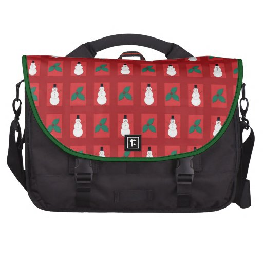 Snowman Holly - Red Laptop Commuter Bag