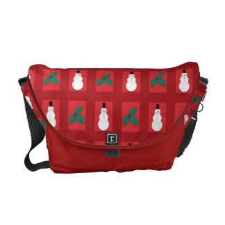 Snowman Holly - Red Commuter Bags