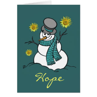 Snowman Hope Greeting Card