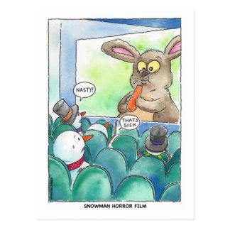Snowman Horror Film Postcard