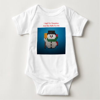 Snowman, I Melt For GrandmaAnd She Melts For Me Baby Bodysuit