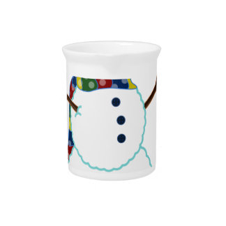 Snowman Illustration Pitcher
