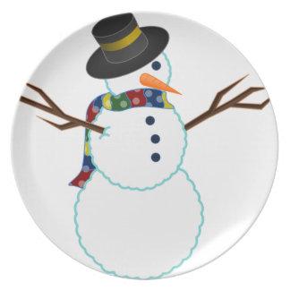 Snowman Illustration Plate