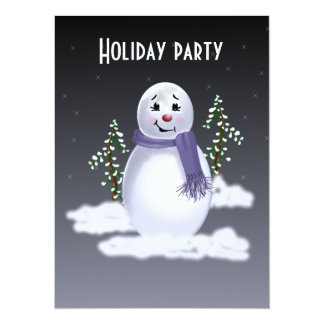 Snowman in the Clouds 14 Cm X 19 Cm Invitation Card