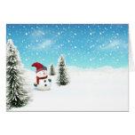 Snowman in the Snow Card