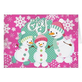 Snowman Joy Christmas Holiday Greeting Card