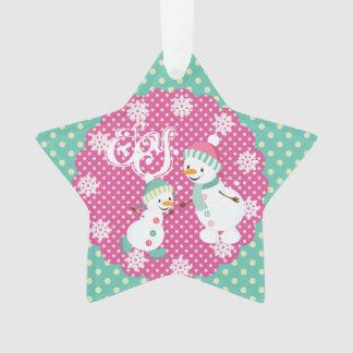 Snowman Joy Holiday Star Acrylic Ornament
