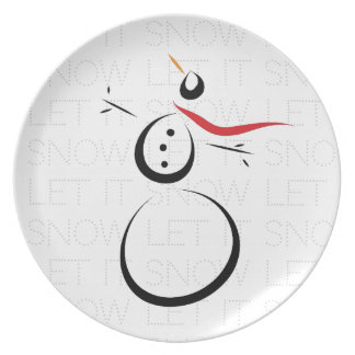 SNOWMAN JOY Let It Snow Plate