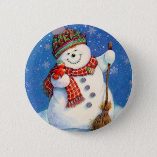 snowman.jpg 6 cm round badge