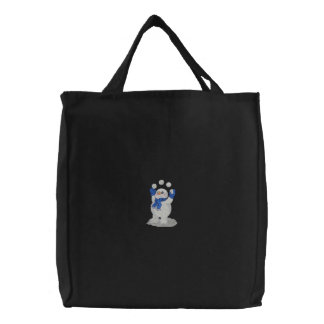 Snowman Juggling Embroidered Bags