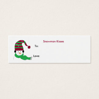 Snowman Kisses - Gift Tag