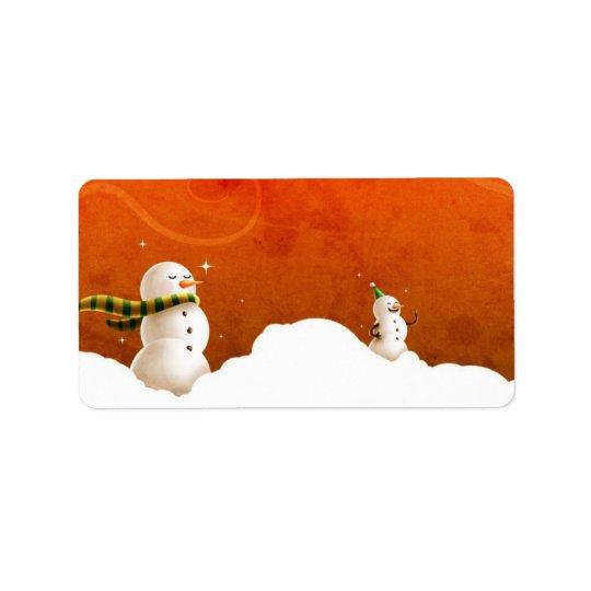 Snowman Label Address Label