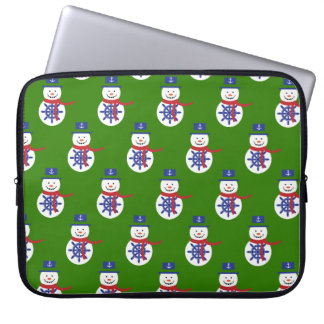 snowman laptop sleeve