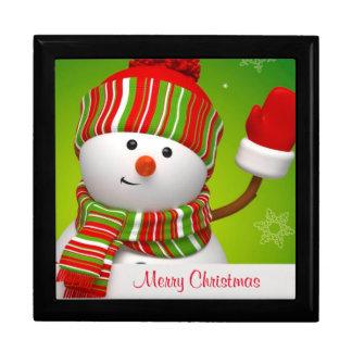 Snowman Large Square Gift Box