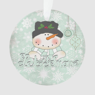 Snowman Let it Snow Personalized Acrylic Ornament